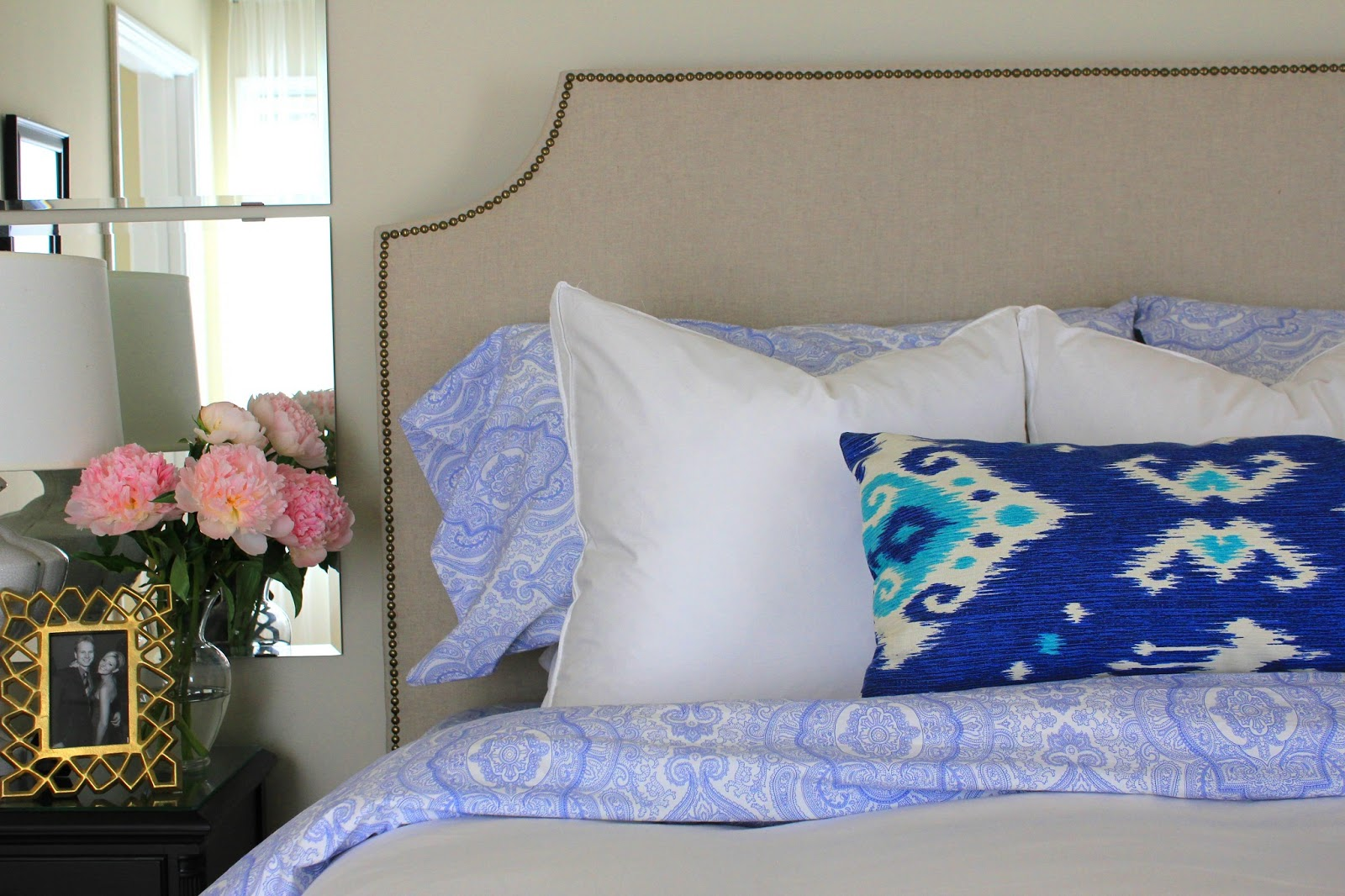 Our New Upholstered Headboard Simply Styled