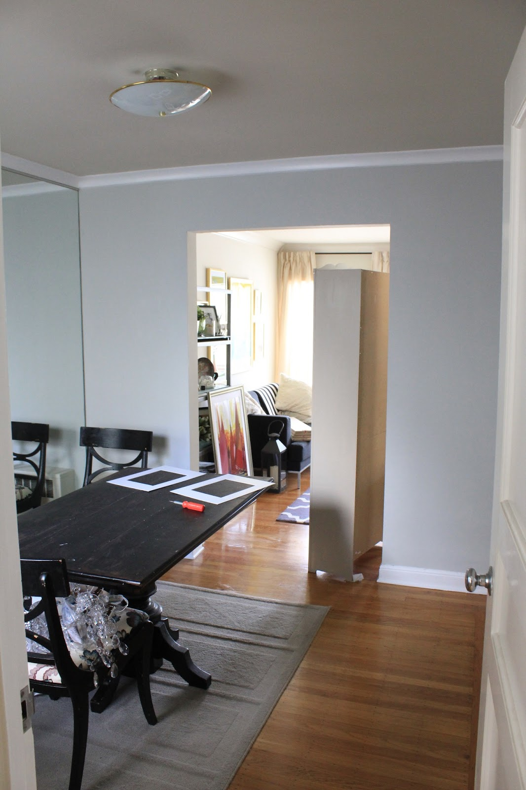 Intense white benjamin moore - This Is A Great Before Picture I Don T Have A Ton Of Pictures Of This Room Just Because It S So Dang Small And Hard To Photograph