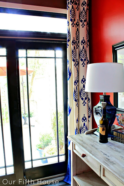 painted curtains | Simply Styled