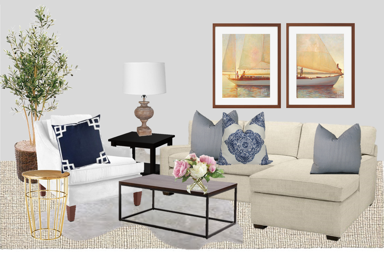 Our Hamptons Inspired Living Room…Coming to Life   Simply Styled
